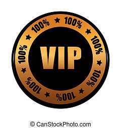 dourado, porcentagens, etiqueta, vip, pretas, 100, círculo