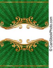 dourado, quadro, llustration, vetorial, luxo, ornate