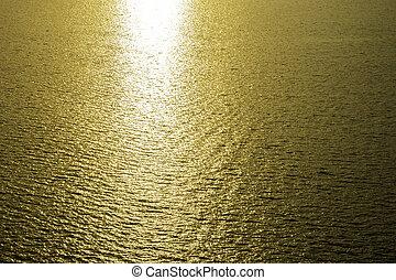 dourado, Reflexão, luz solar