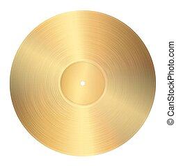 dourado, registro vinil