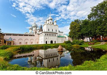 dourado, rostov, kremlin, anel, território, rússia