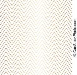 dourado, simples, zag, modernos, papel, trendy, texture., padrão, seamless, zig, fundo, hipster, branca, embrulhando, ziguezague, minimalistic, linha, geomã©´ricas, print., gráfico, illustration., geometria, vetorial, repetindo