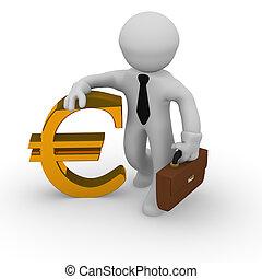 dourado, sinal euro