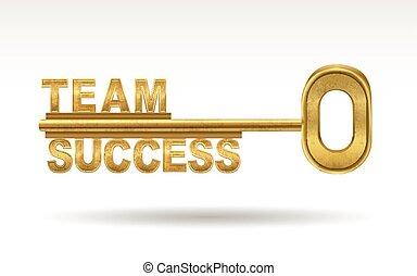 dourado, -, sucesso, tecla, equipe