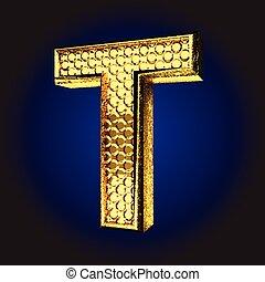 dourado, t, letra