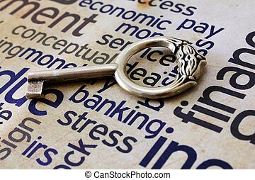 dourado, tensão, tecla, operação bancária