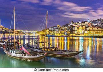 douro, cityscape, rivière, portugal, porto