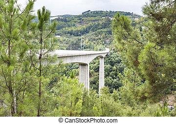 douro, pont, sur, rivière