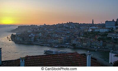 douro, portugal, rivière, porto