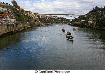 douro, río, en, porto