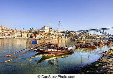 douro, rivière, bateaux