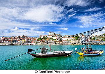 douro, rivière, lisbonne, portugal, vue