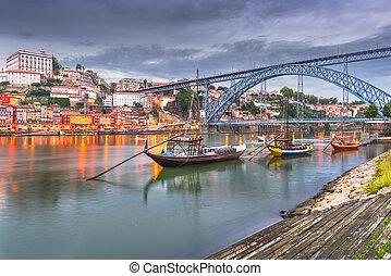 douro, rivière, portugal, porto