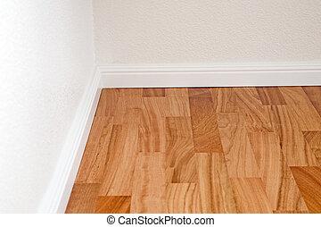 Doussie parquet floor