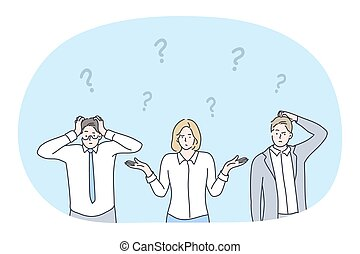 doute, crise, défi, avoir, frustration, idée, concept, non, business
