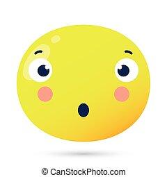 douteux, emoji, caractère, type caractère drôle