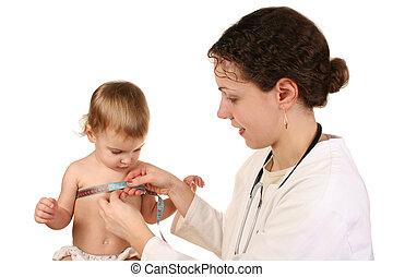 doutor, com, bebê, 3