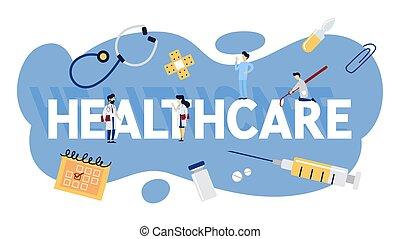 doutor, concept., idéia, consulta, tratamento, cuidados de saúde, médico