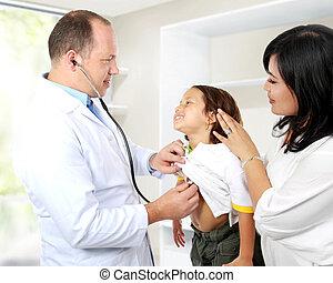doutor, criança
