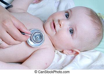 doutor, exames, bebê