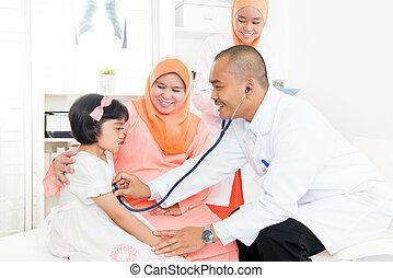 doutor, família, patient.