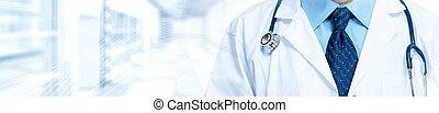 doutor médico, com, estetoscópio