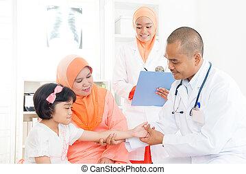 doutor médico, patient.