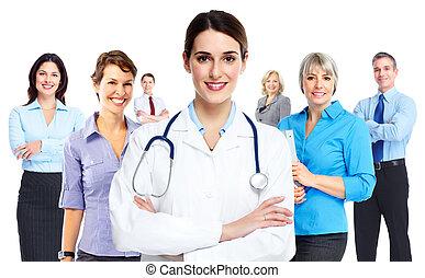 doutor médico, woman.