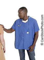 doutor masculino, ou, enfermeira, 7