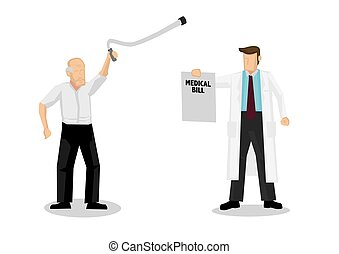 doutor, medicare., conta médica, cuidados de saúde, demands...
