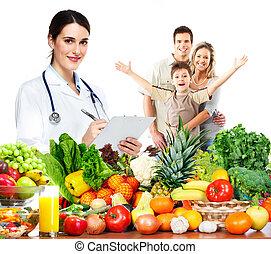 doutor, nutricionista, e, family.