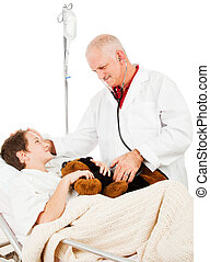 doutor, paciente, confiança
