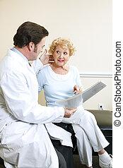 doutor paciente, -, sintomas