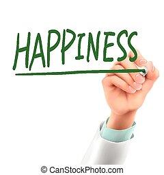 doutor, palavra, felicidade, escrita