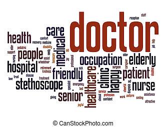 doutor, palavra, nuvem