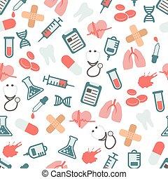 doutor, seamless, padrão