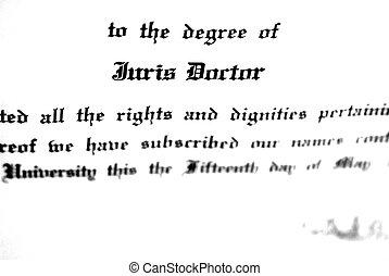 doutorado, lei, grau, juris