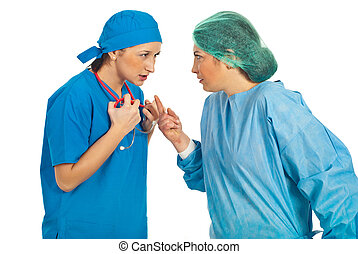 doutores, conflito, mulheres