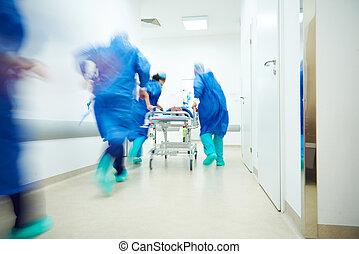 doutores, executando, para, a, cirurgia