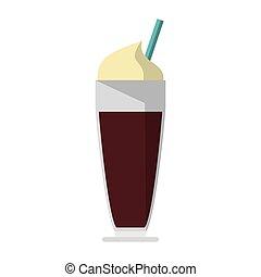 doux, café, boisson, froid, isolé