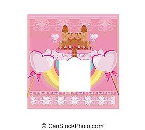 doux, château, -, carte, bonbon