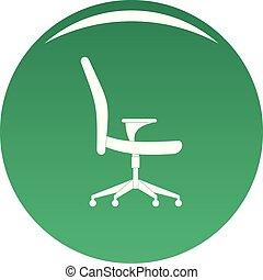 doux, chaise, vecteur, vert, icône