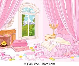 doux, chambre à coucher