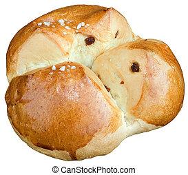 doux, coupure, paques, pain