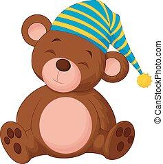 doux, dessin animé, ours, teddy