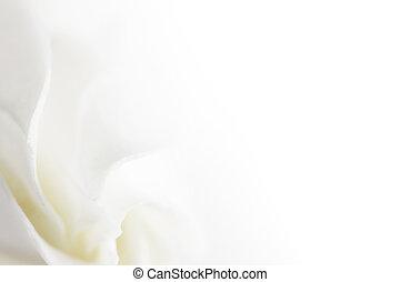 doux, fleur blanche, fond