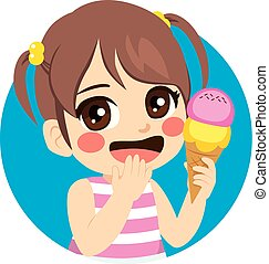 doux, girl, glace