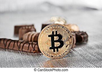 doux, monnaie, bitcoin, or