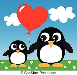 doux, pingouins, deux