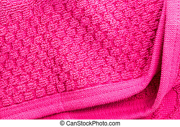 doux, rose, texture, de, serviette bain, plié, à, espace vide